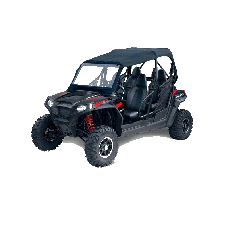 toit de cage de protection de utv avec fen tres avant et arri re pour polaris rzr 4. Black Bedroom Furniture Sets. Home Design Ideas